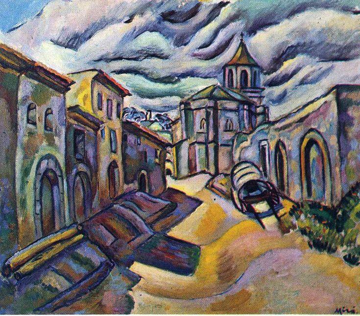 Joan Miró, Barcelona (1893-1983). Catalan painter, Sculptor, muralist and ceramist. Surrealism, Dada, Personal, Experimental. Unknown title (c.1918).