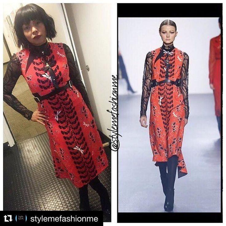 #Repost @stylemefashionme with @repostapp  #TarajiPHenson wears #bibhumohapatra on #goodmorningamerica #celebfashion #instastyle #instafashion #beauty #makeup #jasonbolden #stylish #fashion #newyork #empire #actress EmpireBBK.com