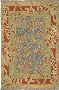 Beautiful Stickley Style Blue SNM8981    Rich Flatweave Rug For Arts And Crafts