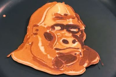 Dad's incredible monkey pancake designs for his kids become viral sensation - Mirror Online