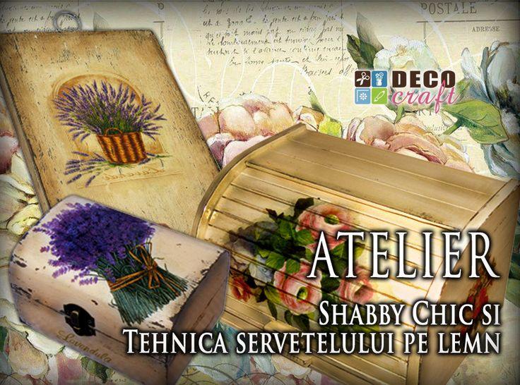 Decoratiuni Shabby Chic realizate la Atelierele de creatie Deco Craft