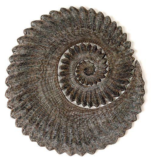 Ammonite, 2005 - copper, 95 × 90 × 90cm  Bronwyn Oliver - Australian artist, amazing woven objects