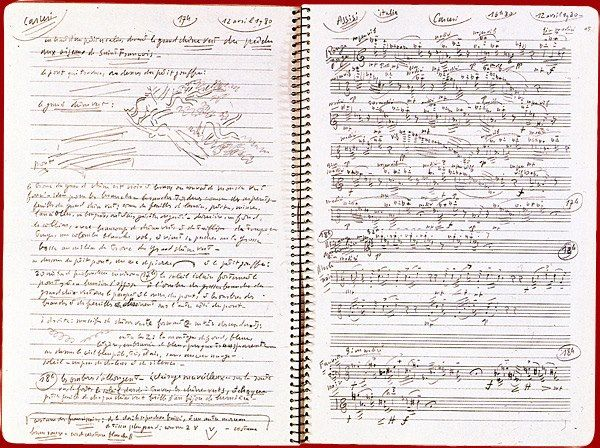 Olivier MESSIAEN.  Notation of birds songs