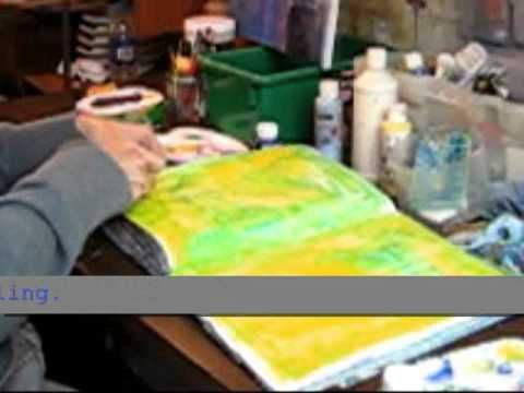 Scraped Paint Art Journal Backgrounds - YouTube