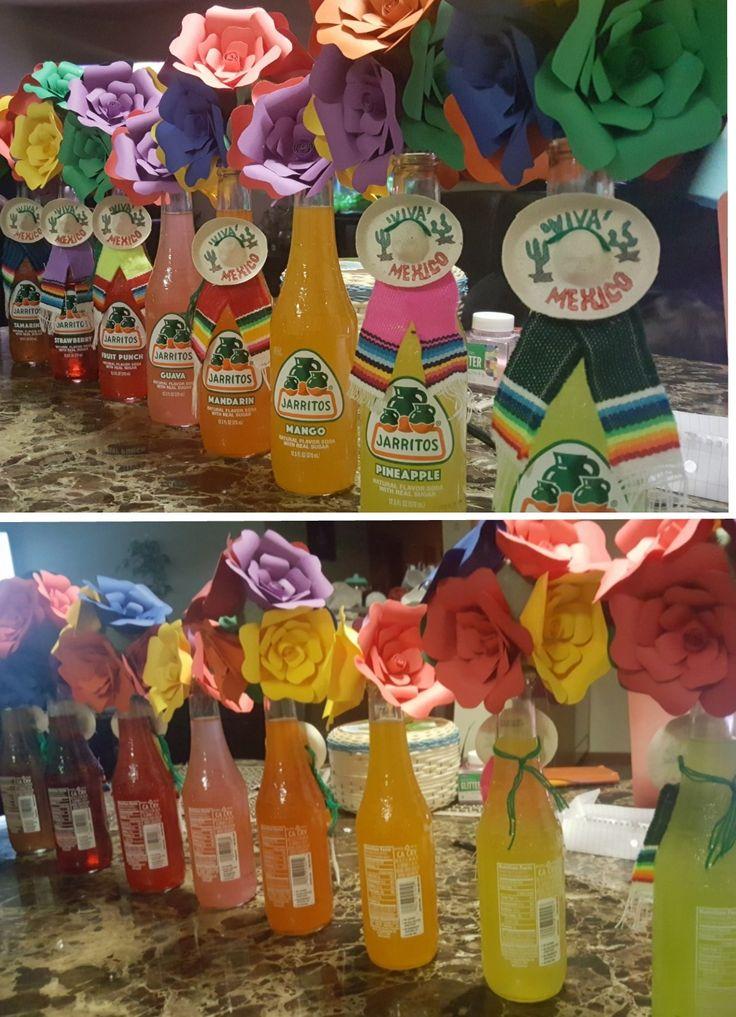 Jarritos Paper Bouquet Centerpieces