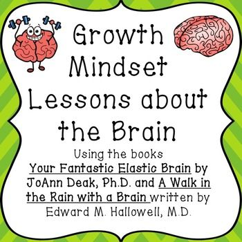 To develop a growth mindset, students need to know how the brain actually works. These kid-friendly books and accompanying lessons are so great :0)