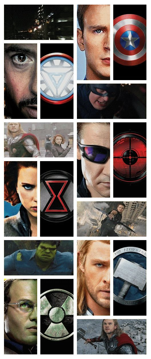 Avengers. I'm amazed at how much comes through even half of their faces, really. Just take a minute and look