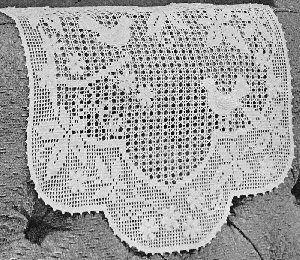 Birds Leaves Flowers Chair Set Vintage Filet Crochet Pattern by ...