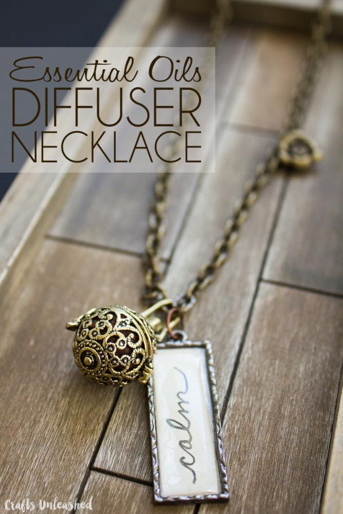 DIY Essential Oil Diffuser Necklace - Crafts Unleashed