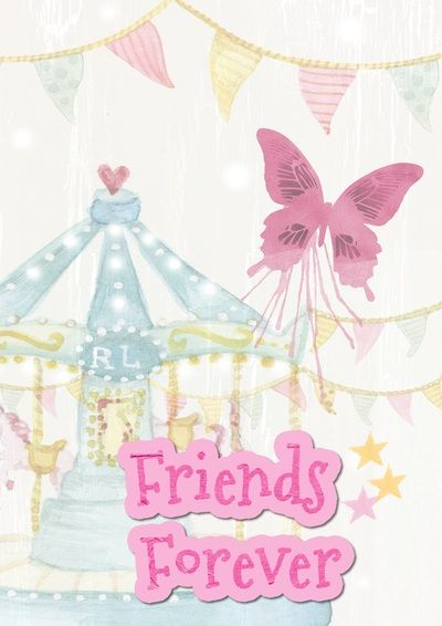 Friends pink butterfly greeting card Free Digital Images Vintage, GIF and Clip Art - Artsy Bee Digital Images