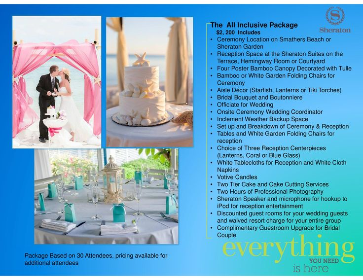 Sheraton All Inclusive Wedding Package Key West Sheratonkeywest