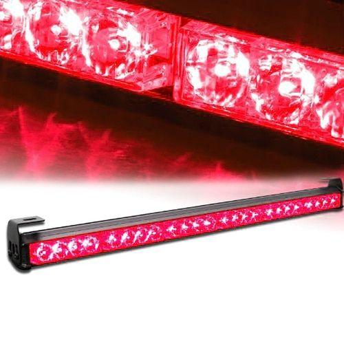Led strobe light bar 25 pinterest xprite red 27 24 led traffic advisor strobe light bar kit mozeypictures Images