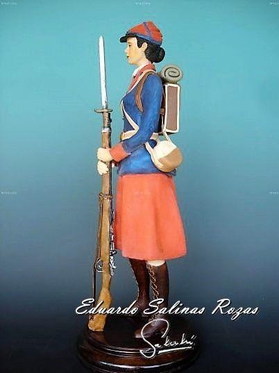 Cantinera.  Soldado de la Guerra del Pacífico año 1879.