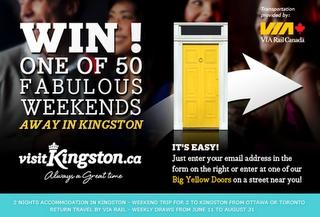 Win 1 of 50 Fabulous Weekends Away in Kingston, Ontario
