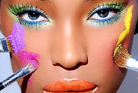 Anyone can pull off bright makeup; it's a matter of experimenting to find the right shades for you.