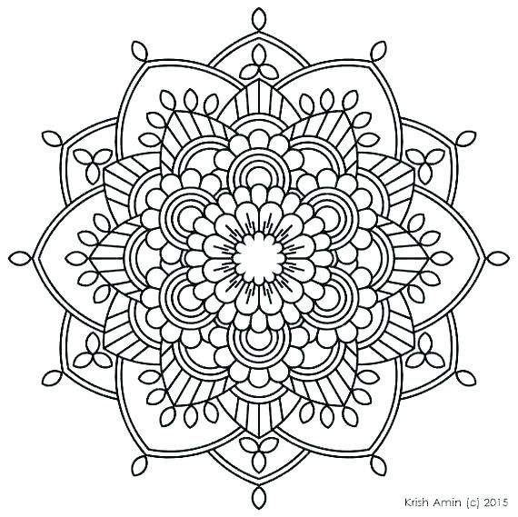 Printable Mandala Coloring Sheets Free Printable Advanced Mandala