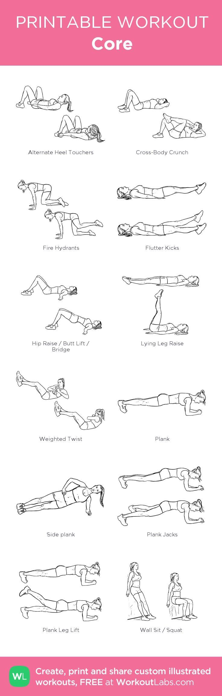Core Workout | Posted by NewHowToLoseBellyFat.com