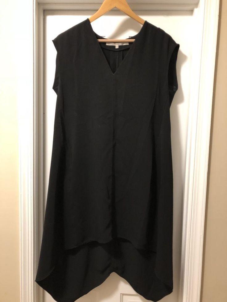 RACHEL Rachel Roy Black Asymmetric High-low V-Neck Sleeveless Dress Size S  | eBay