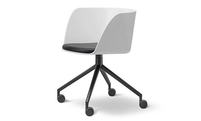 Chaise De Bureau Sans Roulettes Fauteuil Pivotant Verve Avec Ou