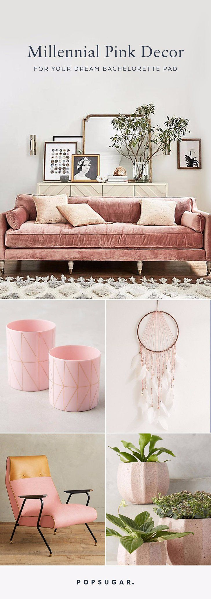 18 Millennial Pink Decor Items For Your Dream Bachelorette Pad