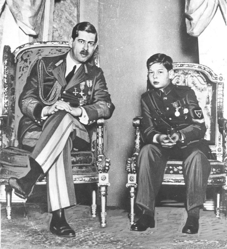 King Carol II of Romania and his son Crown Prince Michael