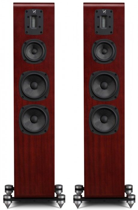 The Quad S-4 floor-standing speaker fills the room with finely tuned bass and smooth airy highs, improving the sound with a richer and detailed midrange.