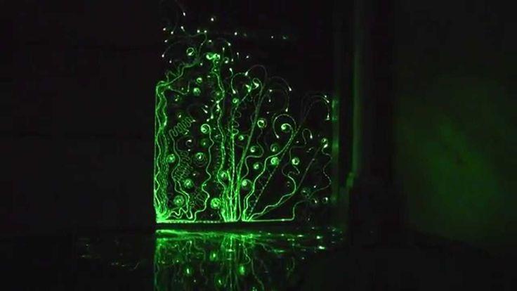Ozdobna ściana z oświetleniem. Dekoracja ściany. Oświetlenie ściany 3D. ...