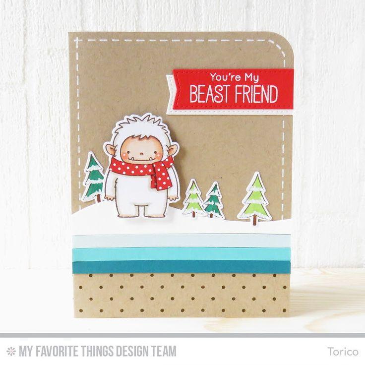 Beast Friends Stamp Set and Die-namics, Swiss Dots Background, Snow Drifts Die-namics, Blueprints 20 Die-namics -  Torico  #mftstamps