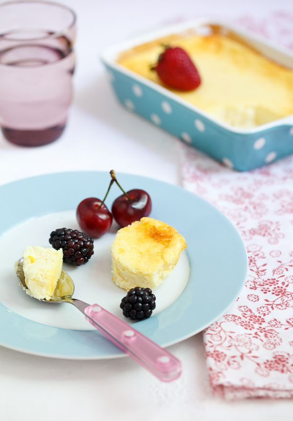 baked ricotta pudding - super simple and perfect with summer berries