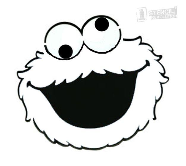 Cookie Monster Stencils Cake In 2019 Sesame Street