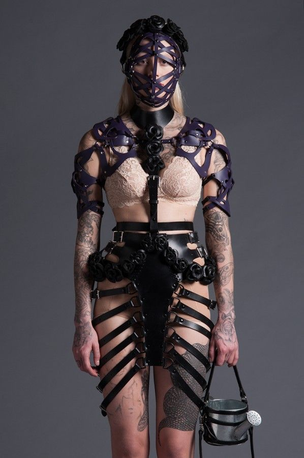 Domineering Leather Harness Collections - The Zana Bayne Leather 2014 Collection is Boldly Strappy (GALLERY)