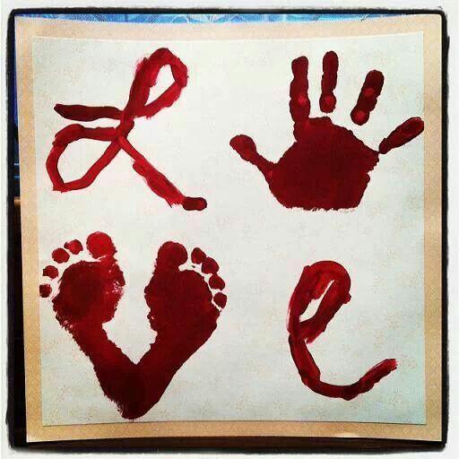 valentine baby art