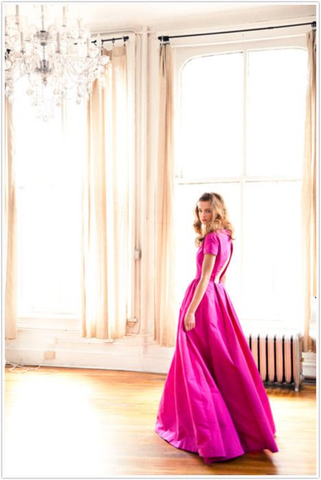 A girl in the Cadogan ballroom (minus the sunshine)? Love this picture!Wedding Dressses, Fashion, Pink Dresses, Ball Gowns, Style, Colors, Hot Pink, The Dresses, Pink Gowns