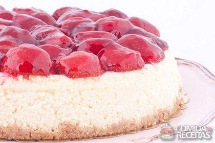 Receita de Cheesecake de morango - Comida e Receitas