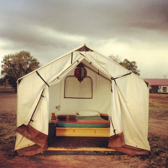 Glamping   (via ESCAPE / safari tent. el cosmico - marfa. tx.)