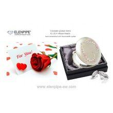 "Lusterko kosmetyczne EL-23.4 ""Rose Heart"" ze Swarovski® crystals"