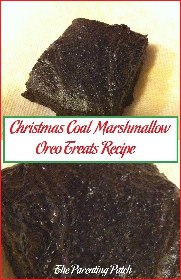 Christmas Coal Marshmallow Oreo Treats Recipe