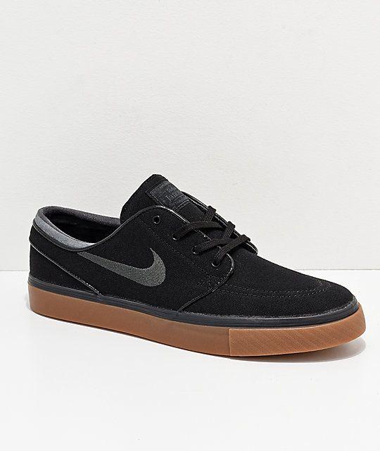 3b9b12a7365a Nike SB Zoom Stefan Janoski Mono Black   Anthracite Skate Shoes ...