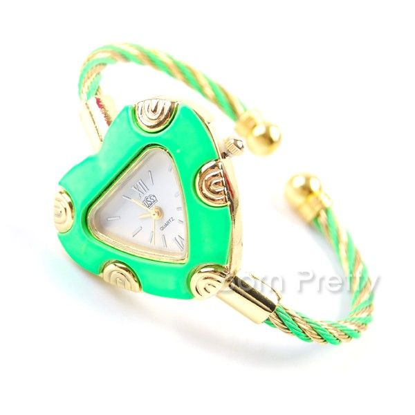 $9.50 Women's Heart Shaped Dial Thin Band Wrist Watch Quartz Analog Wrist Watch - BornPrettyStore.com