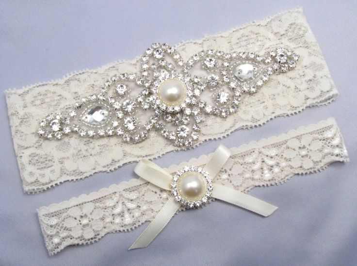 Ivory Bridal Garter Set Crystal Rhinestone by LoveForeverBridal, $24.95