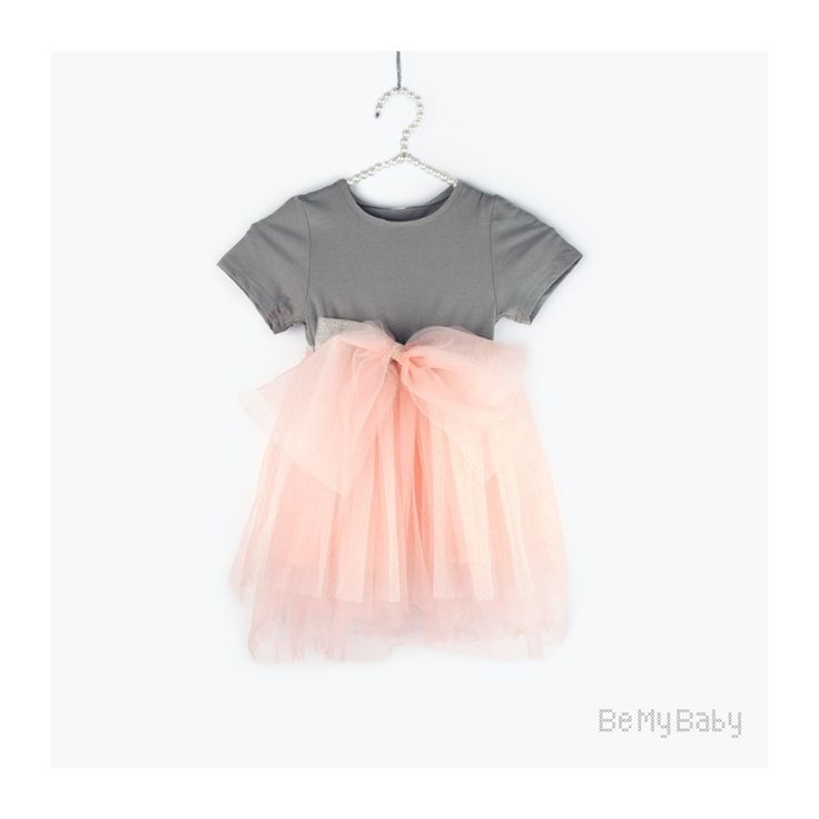 tiulowa sukienka z kokardą #bmb