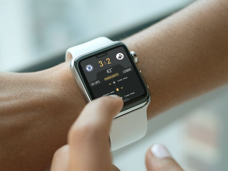 Live results apple watch app ui concept