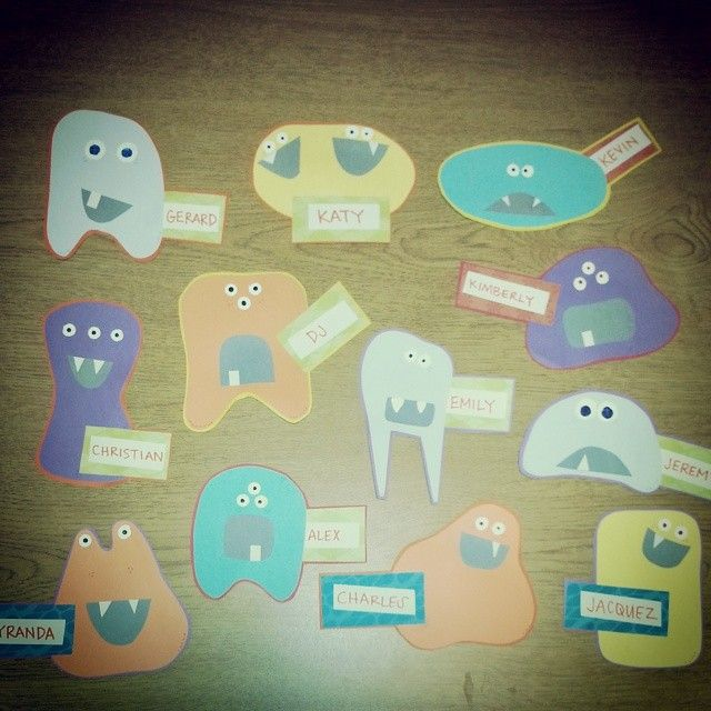 "istalksnape: ""A sampling of finished door decs. #reslife #ratraining #ahrealmonsters """