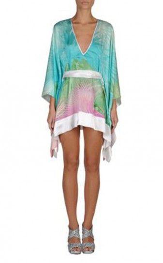 Mini abito a kimono fantasia