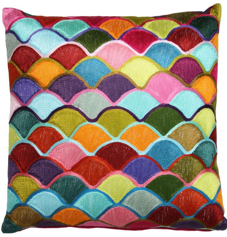 Vivid Scalloped Cushion - Matt Blatt