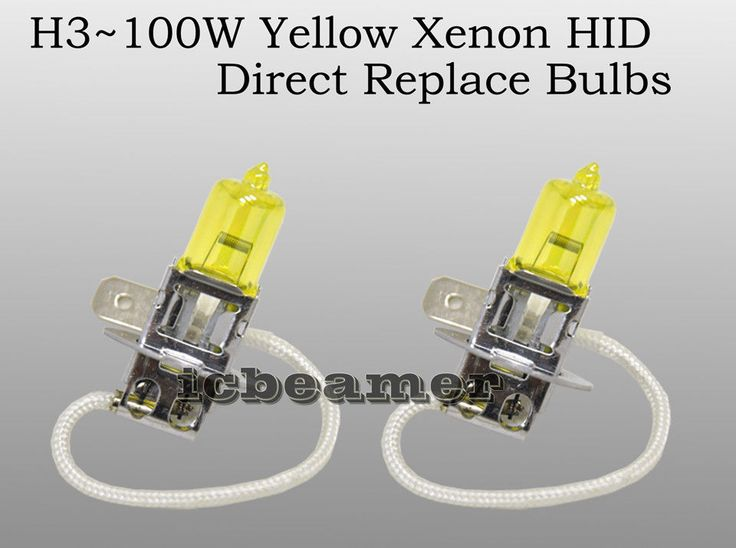 Awesome Great H3 12V 100W pair Fog Light Xenon HID Super Yellow Plug and Play Bulbs Lamps F605 2017 2018 Check more at http://24cars.ga/my-desires/great-h3-12v-100w-pair-fog-light-xenon-hid-super-yellow-plug-and-play-bulbs-lamps-f605-2017-2018/