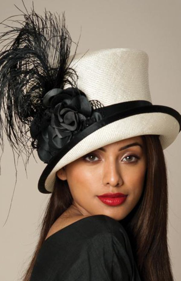 Madhat style in black & white  #millinery #judithm #hats