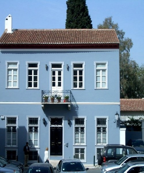 Blue house in Thission, Athens