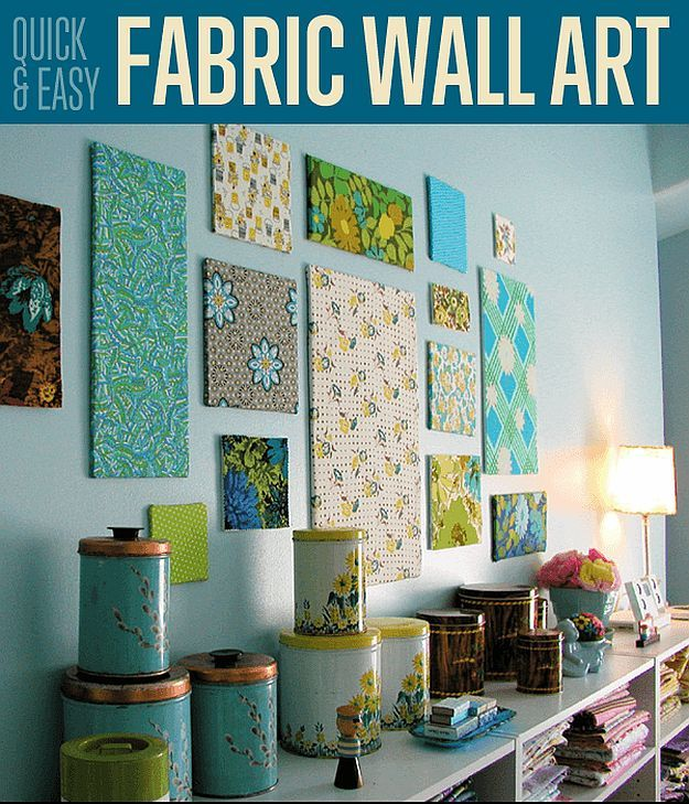 Quick & Easy Fabric Wall Art   25 Wall Decor Ideas To Reinvent The Look Of Your Home