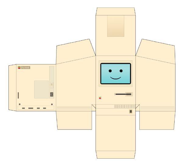Macintosh. Papertoy.